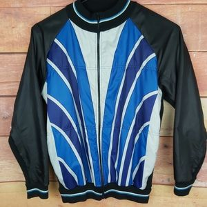 Nylon and wool blend bomber jacket racing style